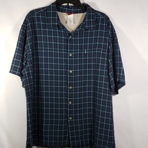 THE NORTH FACE BUTTON UP CASUAL SHIRT SHORT SLEEVE